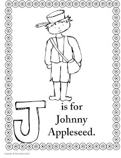 Johnny Appleseed Coloring Page The Story Of Johnny Appleseed