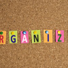 Organize word made of post it